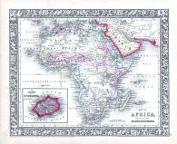 Africa, World Atlas 1864 Mitchells New General Atlas